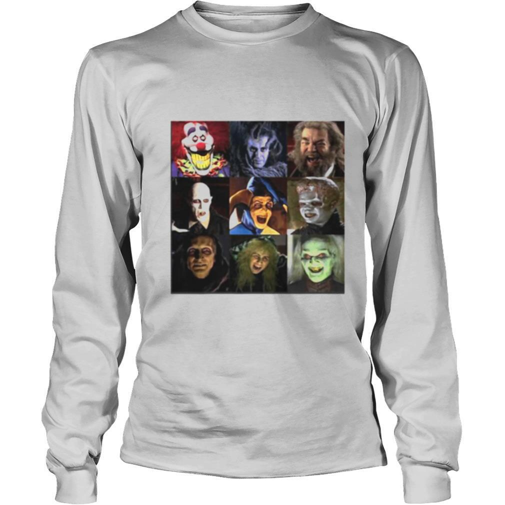 Funny Horror Characters Face Halloween shirt