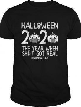 Halloween 2020 Pumpkin Mask Boo Sheet Year Funny Quarantine shirt