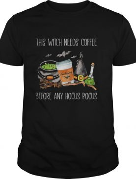 Halloween sendorsons coffee this witch needs insulin before any hocus pocus shirt