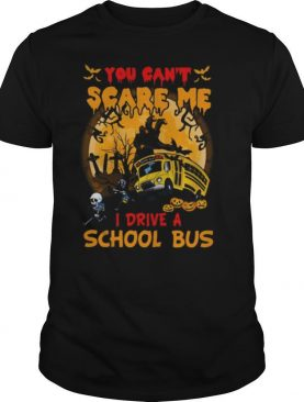 Halloween you can't scare me i drive a school bus skeleton shirt