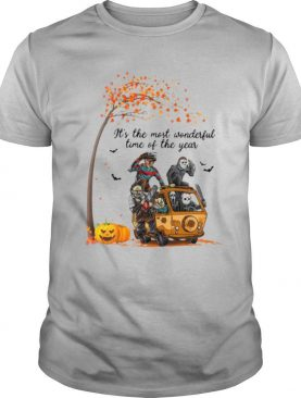 Horror Character It's The Most Wonderful Time Of The Year Halloween shirt