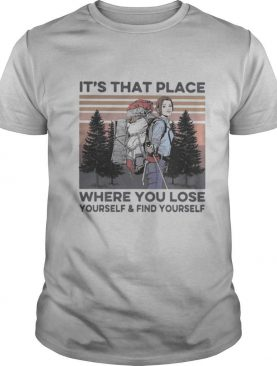 It's that place where you lose yourself and find yourself climb the mountain vintage shirt
