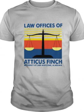 Law Offices Of Atticus Finch Attorney At Law Maycomb Alabama Vintage shirt