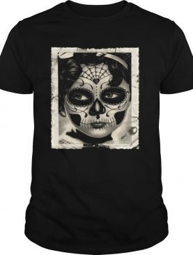 Little Girl Makeup Skull Day Of The Dead shirt