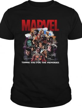 Marvel All Characters Thank You For The Memories Signature shirt