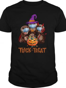 Otter Face Mask Trick Or Treat shirt