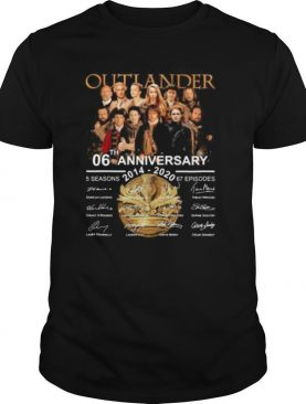 Outlander 06th anniversary 2014 2020 thank you for the memories signatures shirt