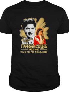 Patsy cline 1932 1963 thank for the memories signature shirt