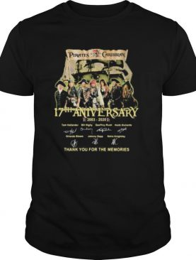 Pirates of the caribbean 17th anniversary 2003 2020 thank for the memories signatures shirt