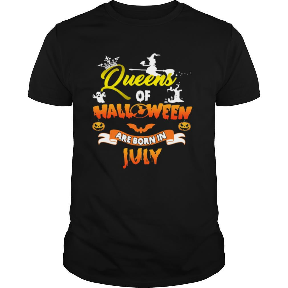 Queen Of Halloween Are Born In July shirt0