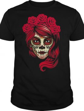 Skull Lady Woman Day Of The Dead shirt
