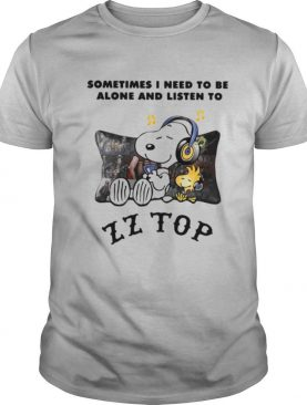 Snoopy and Woodstock Sometimes I Need To Be Alone And Listen To ZZ Top shirt