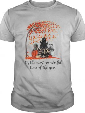 Star wars darth vader it's the most wonderful time of the year leaves tree pumpkins leopard shirt