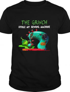 The Grinch Stole my sewing machine Christmas shirt