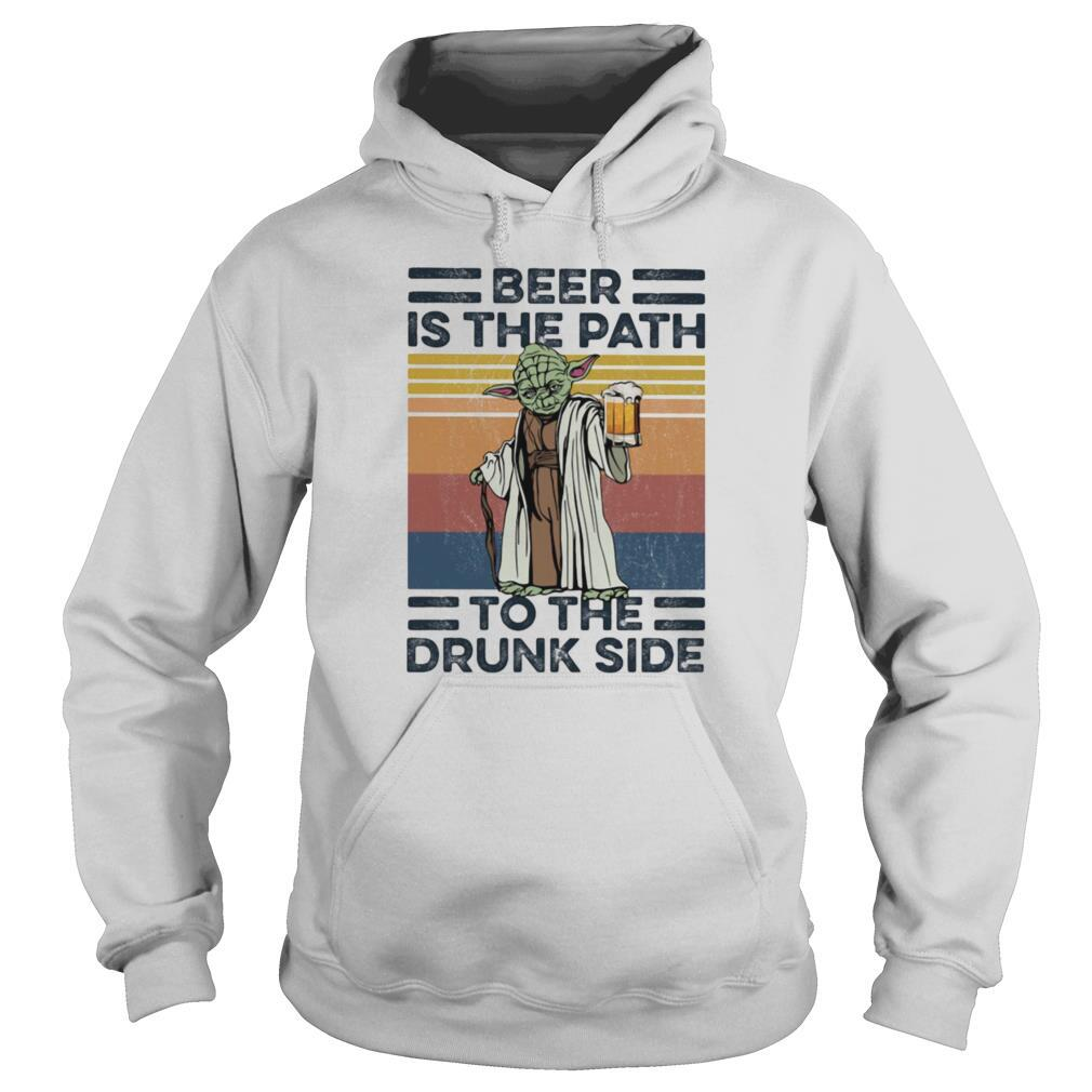 Yoda Beer Is The Path To The Drunk Side Vintage shirt
