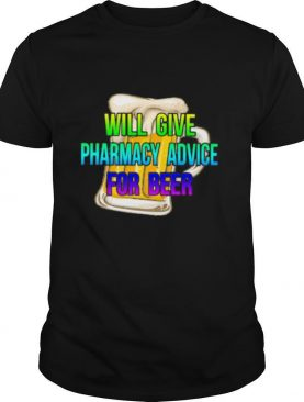 will give pharmacy advice for beer colors shirt