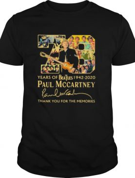 78 Years Of The Beatles 1942 2020 Paul Mccartney Thank For The Memories Signature