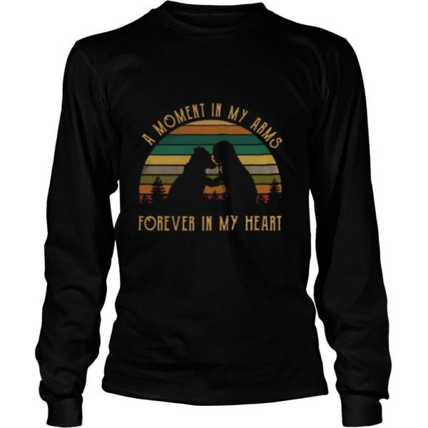 A Moment In My Arms Forever In My Heart Vintage Retro shirt
