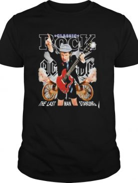Acdc band classic rock the last man standing shirt