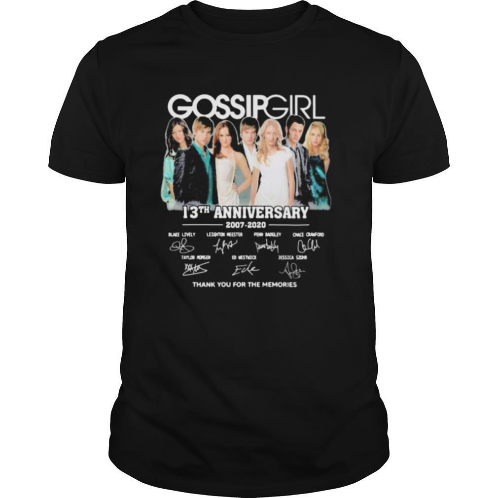 Gossip girl 13th anniversary 2007 2020 thank for the memories signatures shirt0