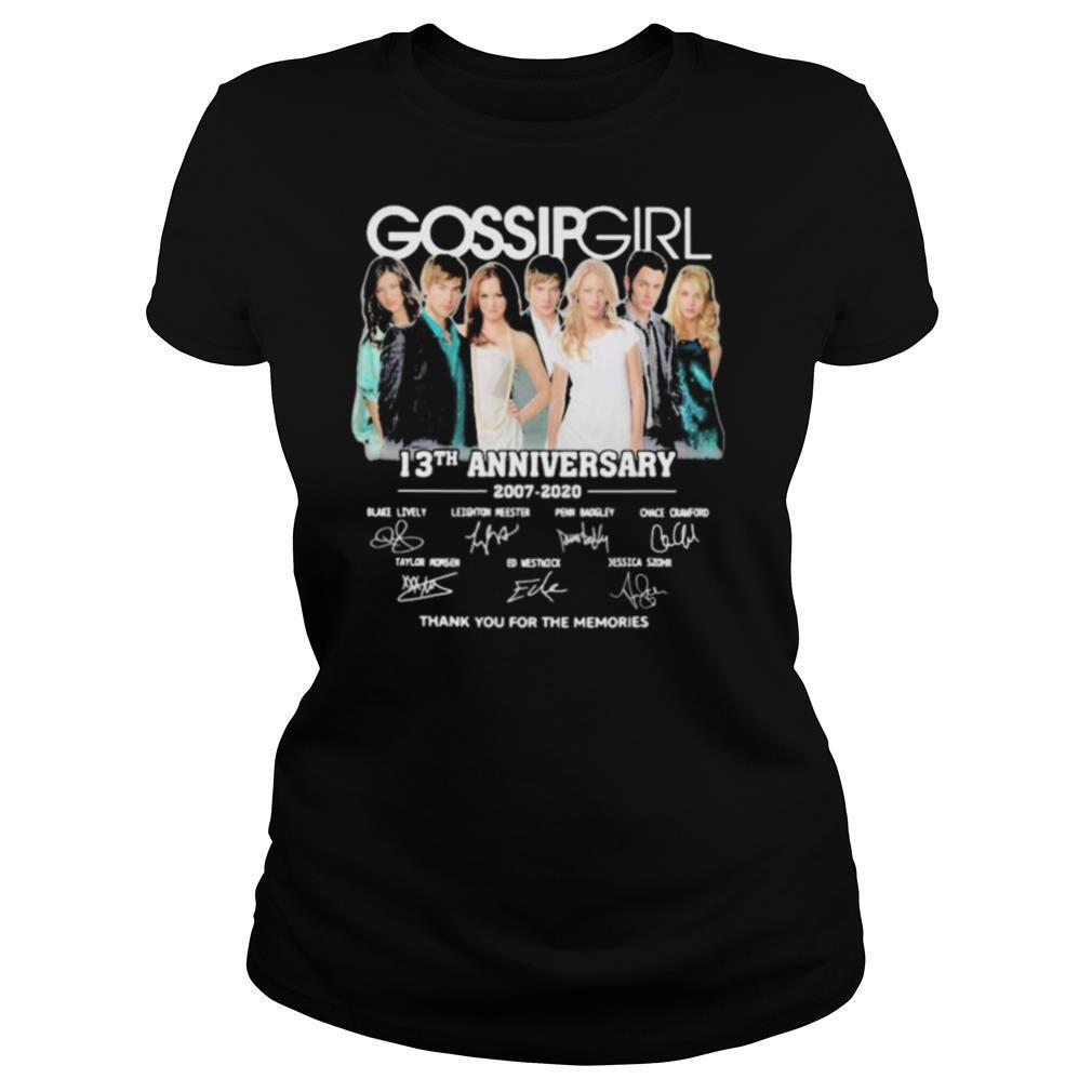 Gossip girl 13th anniversary 2007 2020 thank for the memories signatures shirt