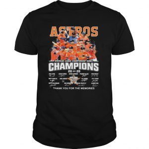 Houston astros american league championship series champions thank you for the memories signatures shirt