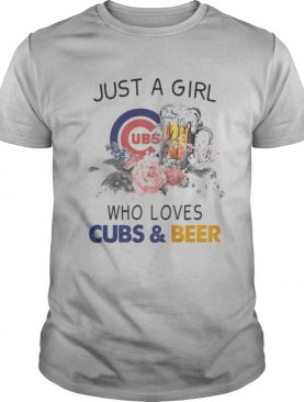 Just A Girl Who Loves Chicago Cubs And Beer Flowers