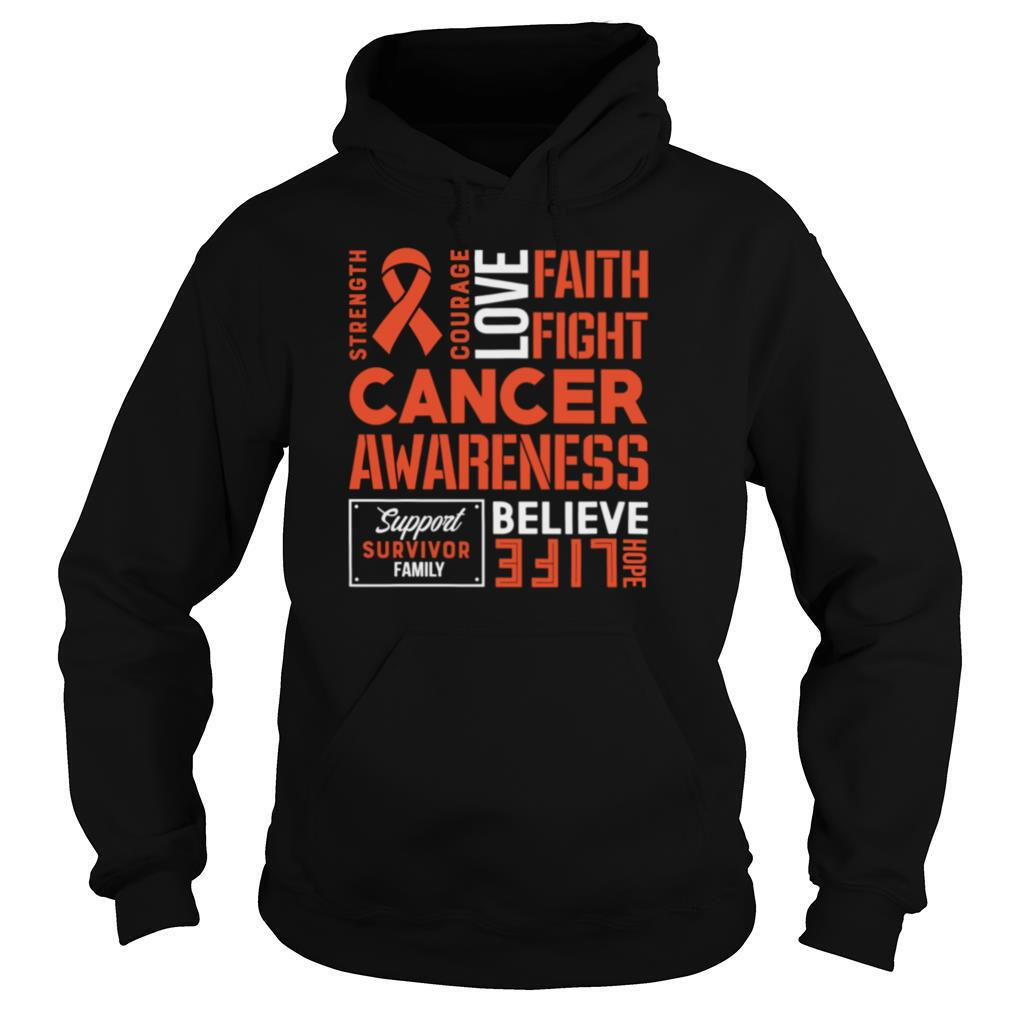 Kidney Cancer Awareness Fight Cancer Ribbon shirt