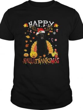 Lab Happy Hallothanksmas Halloween Thanksgiving Xmas shirt