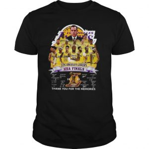 Los Angeles Lakers NBA Finals 2020 Thank You For The Memories Signatures shirt