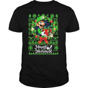 Mario ugly merry christmas happy holidays shirt