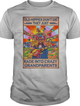 Old Hippies Don't Die They Just Fade Into Crazy Grandparents Poster shirt