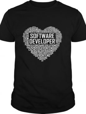 Proud Software Developer Heart Proud Graduation shirt