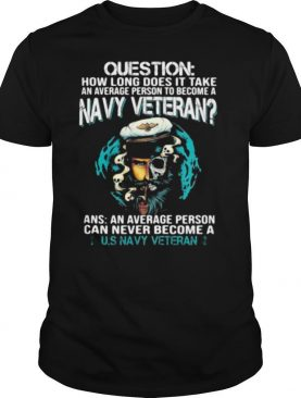 Question How Long Does It Take An Average Person To Become A Navy Veteran shirt