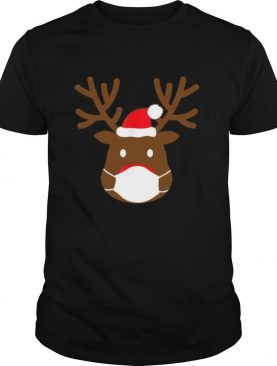 Reindeer With Face Mask Christmas 2020 Family Pajamas Xmas shirt
