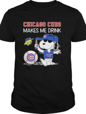 Snoopy And Woodstock Chicago Cubs Makes Me Drink
