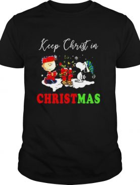 Snoopy and Charibow keep Christ in Christmas shirt