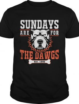 Sundays Are For The Dawgs Cleveland shirt