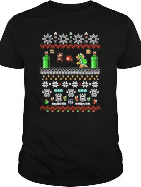 Super mario bros ugly christmas shirt
