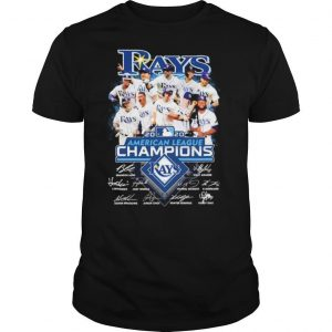 Tampa Bay Rays 2020 American League Champions played signatures shirt