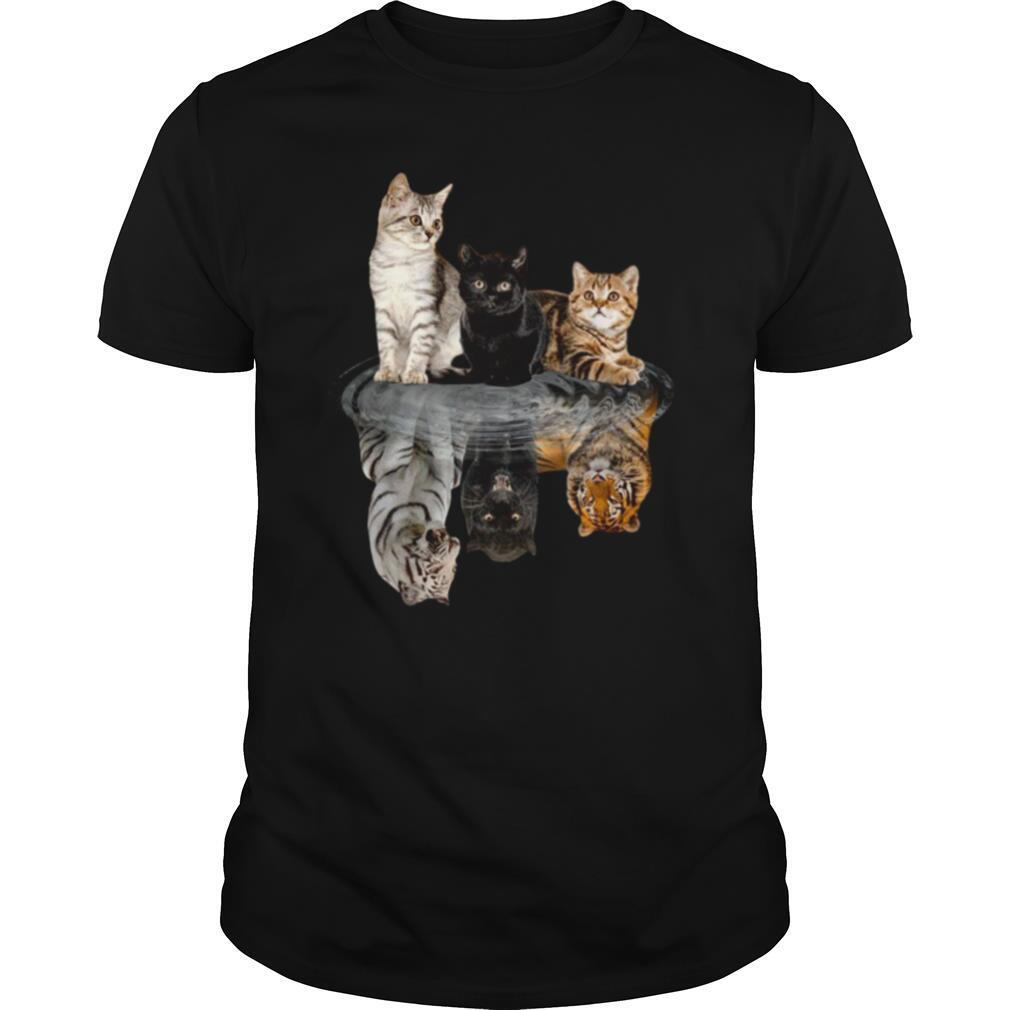 The Cats Water Mirror Reflection Tigers shirt0