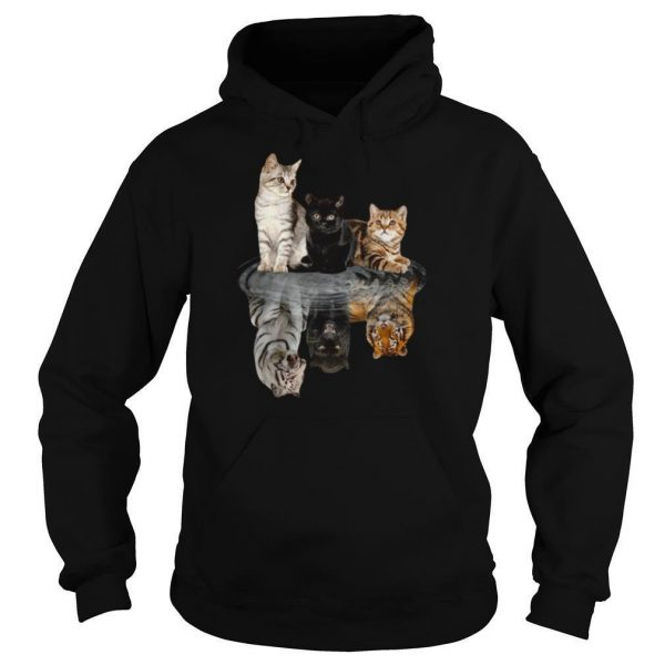 The Cats Water Mirror Reflection Tigers shirt