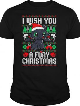 Toothless santa claus i wish you a fury christmas shirt