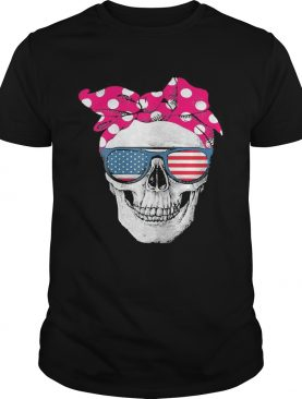 Womens American Skull Womens Pride With Cute Pink Polka Style 2020 shirt