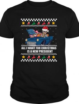 All I Want For Christmas Is A New President Biden Meme Ugly Christmas shirt