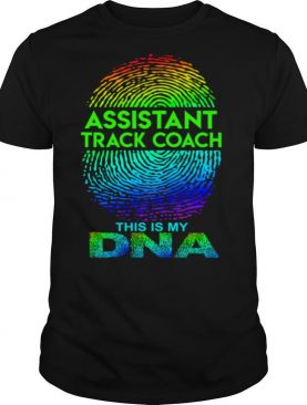 Assistant Track Coach This Is My Dna Fingerprints shirt