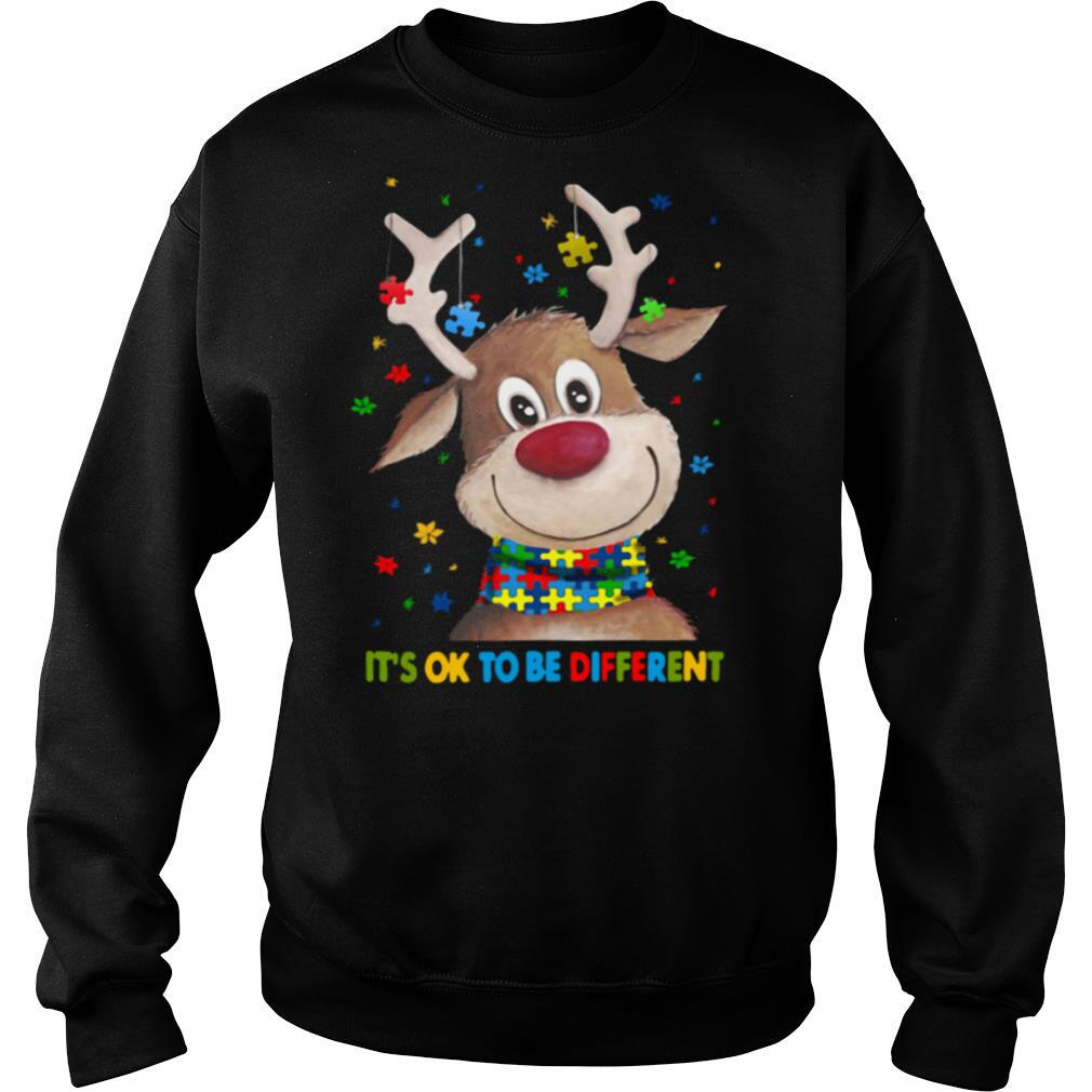 Autism Awareness Reindeer It's Ok To Be Different shirt