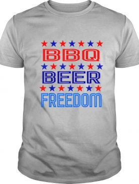 BBQ Beer Freedom USA America 2020 Proud American shirt
