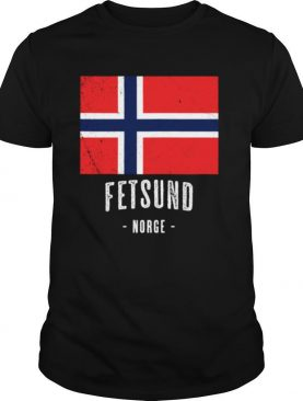 City of Fetsund Norway NO Norwegian Flag Merch shirt