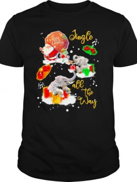 Elephant Jingle all the way Christmas 2020 shirt